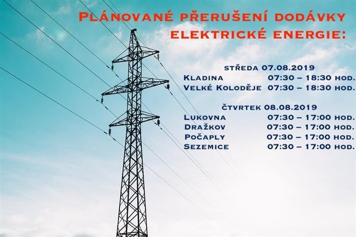 Přerušení elektrické energie